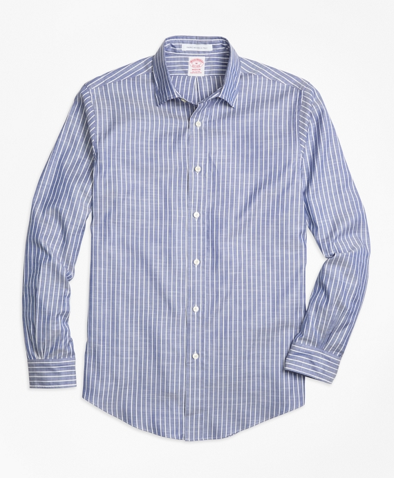 Madison Fit Stripe Sport Shirt Blue