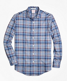 Madison Fit Plaid Melange Sport Shirt