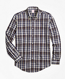 Non-Iron Madison Fit Plaid Sport Shirt
