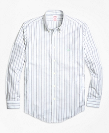 Non-Iron Madison Fit Vintage Stripe Sport Shirt