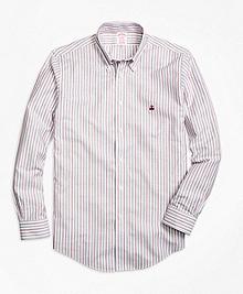 Non-Iron Madison Fit Vintage Stripe Sport Shirt