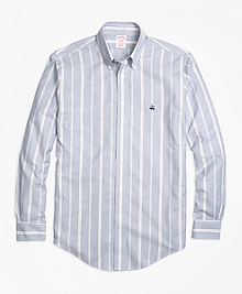 Non-Iron Madison Fit Wide Stripe Sport Shirt