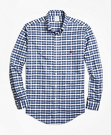 Non-Iron Milano Fit Heathered Check  Sport Shirt