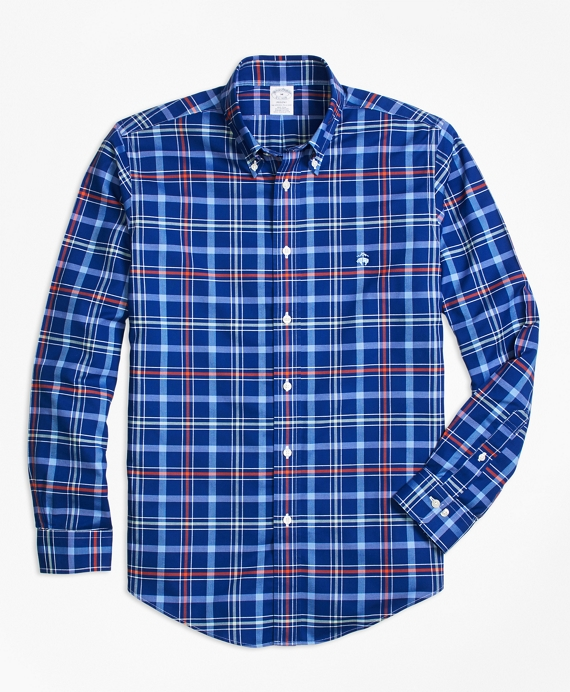 Non-Iron BrooksCool® Regent Fit Plaid Sport Shirt