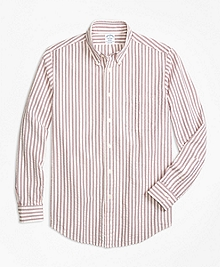 Regent Fit Triple Stripe Seersucker Sport Shirt