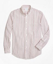 Regent Fit Triple Stripe Seersucker Sport Shirt