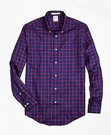 Regent Fit Dobby Windowpane Sport Shirt