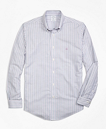 Non-Iron Regent Fit Stripe Sport Shirt