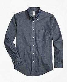 Regent Fit Selvedge Indigo Sport Shirt