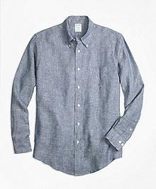 Milano Fit Dot Irish Linen Sport Shirt
