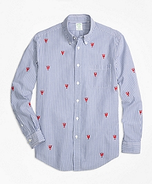 Milano Fit Seersucker with Lobsters Sport Shirt