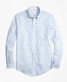 Madison Fit Stripe with Anchors Sport Shirt