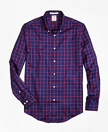 Madison Fit Dobby Windowpane Sport Shirt