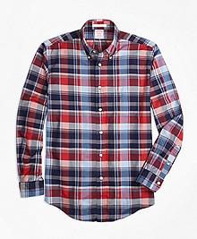 Madison Fit Multi Madras Sport Shirt