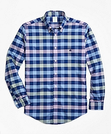 Non-Iron BrooksCool® Milano Fit Gingham Sport Shirt