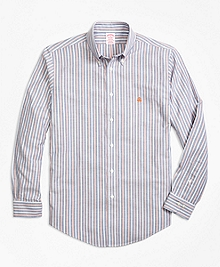 Non-Iron Madison Fit Stripe Sport Shirt