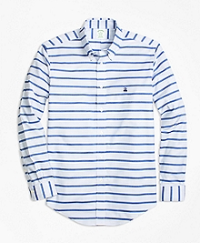 Non-Iron Milano Fit Mariner Stripe Sport Shirt