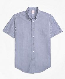 Madison Fit Stripe Seersucker Short-Sleeve Sport Shirt