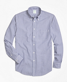 Milano Fit Stripe Seersucker Sport Shirt