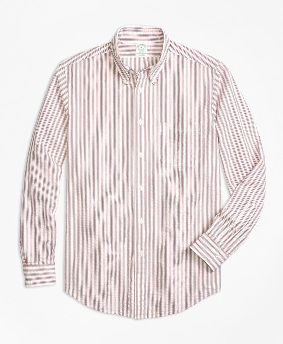 Milano Fit Triple Stripe Seersucker Sport Shirt