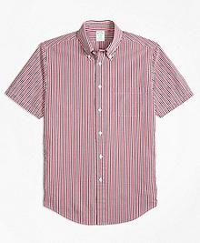 Milano Fit Check Seersucker Short-Sleeve Sport Shirt