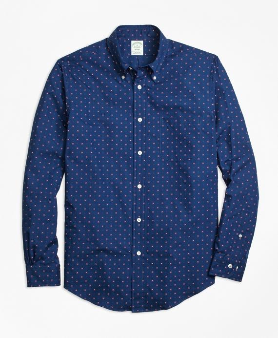 Milano Fit Foulard Print Sport Shirt Blue