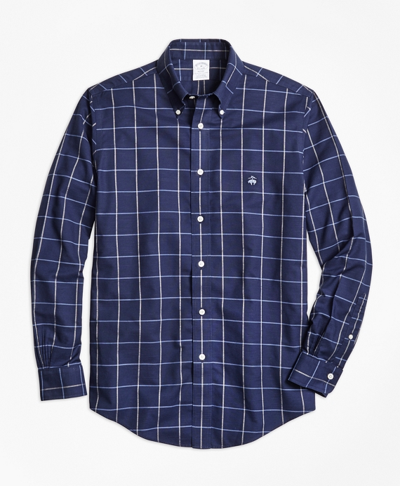 Non-Iron Regent Fit Windowpane Sport Shirt