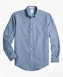 Regent Fit Indigo Dyed Paisley Sport Shirt