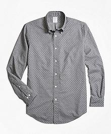 Regent Fit Foulard Print Sport Shirt