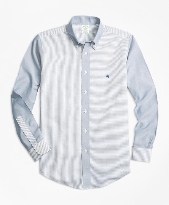 Non-Iron BrooksCool® Milano Fit Fun Sport Shirt Blue