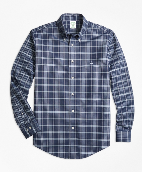 Non-Iron Milano Fit Heathered Check Sport Shirt