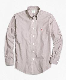 Non-Iron Milano Fit Heathered Stripe Sport Shirt