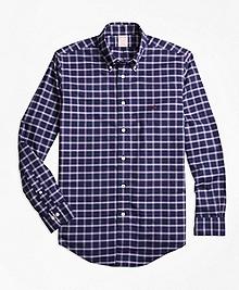 Non-Iron Madison Fit Windowpane Sport Shirt
