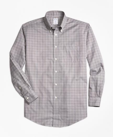Non-Iron Regent Fit Glen Plaid Sport Shirt