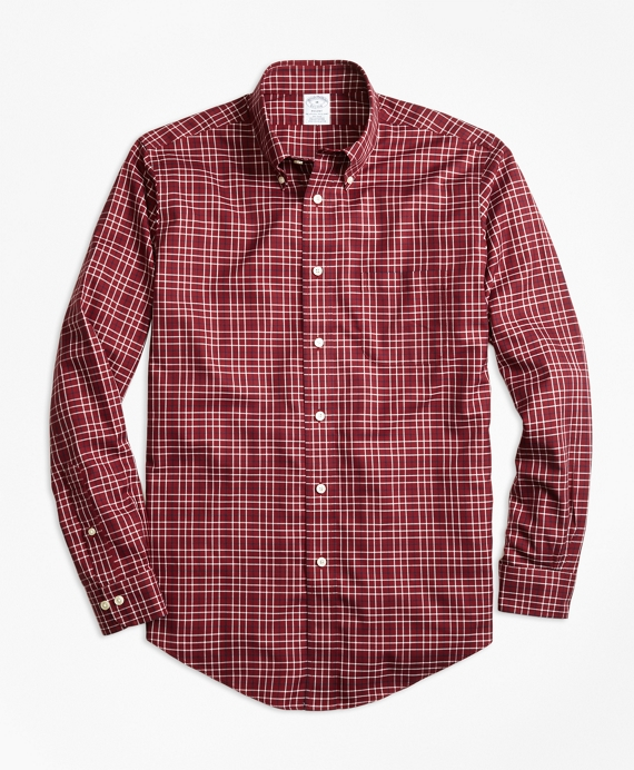 Non-Iron Regent Fit Herringbone Multi-Tattersall Sport Shirt