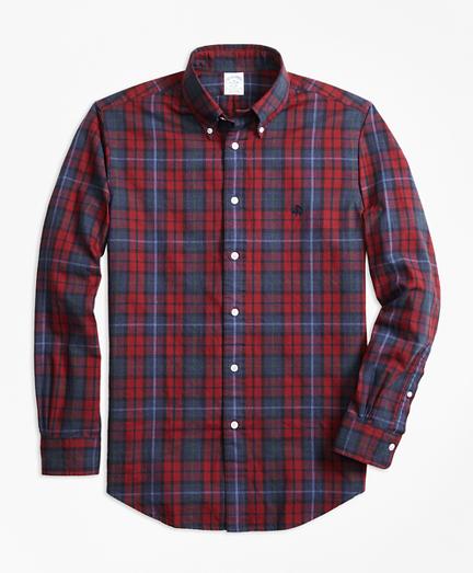 Regent Fit Yarn-Dyed Oxford Plaid Sport Shirt