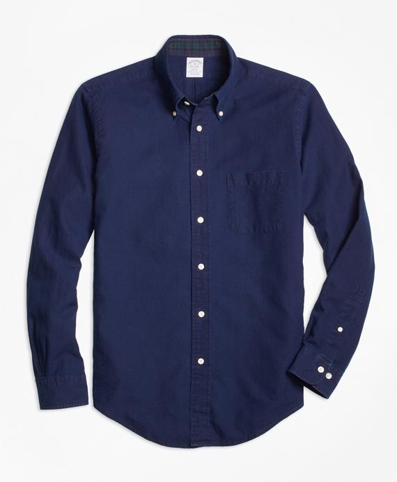 Regent Fit Indigo Dobby Sport Shirt