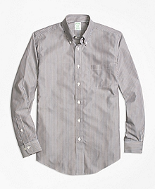 Non-Iron Milano Fit Stripe Sport Shirt