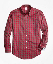 Non-Iron Madison Fit Prince Charles Edward Stewart Tartan Sport Shirt