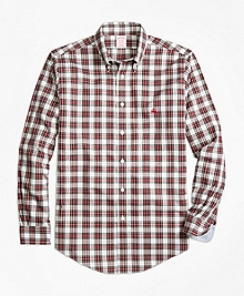 Non-Iron Madison Fit Dress Stewart Tartan Sport Shirt