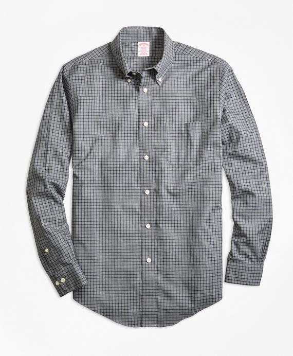 Non-Iron Madison Fit Herringbone Tattersall Sport Shirt