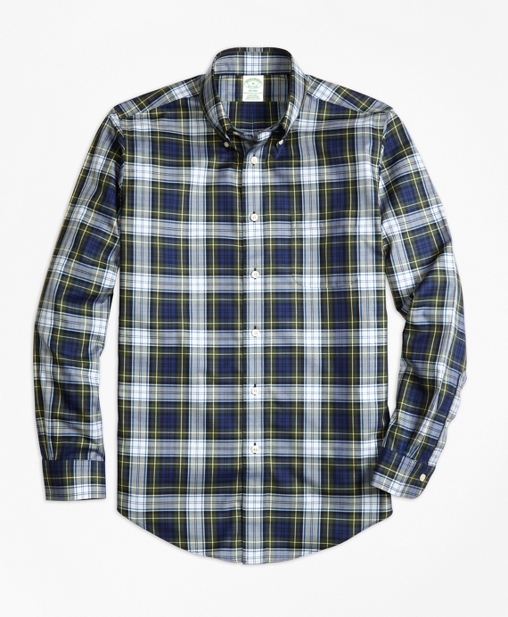 Non-Iron Milano Fit Dress Gordon Tartan Sport Shirt