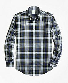 Non-Iron Milano Fit Dress Gordon Tartan Sport Shirt