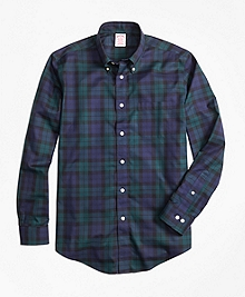 Non-Iron Madison Fit Black Watch Sport Shirt