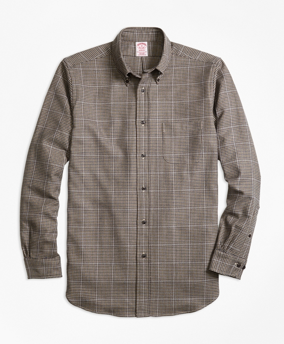 Madison Fit Saxxon™ Wool Houndstooth Sport Shirt