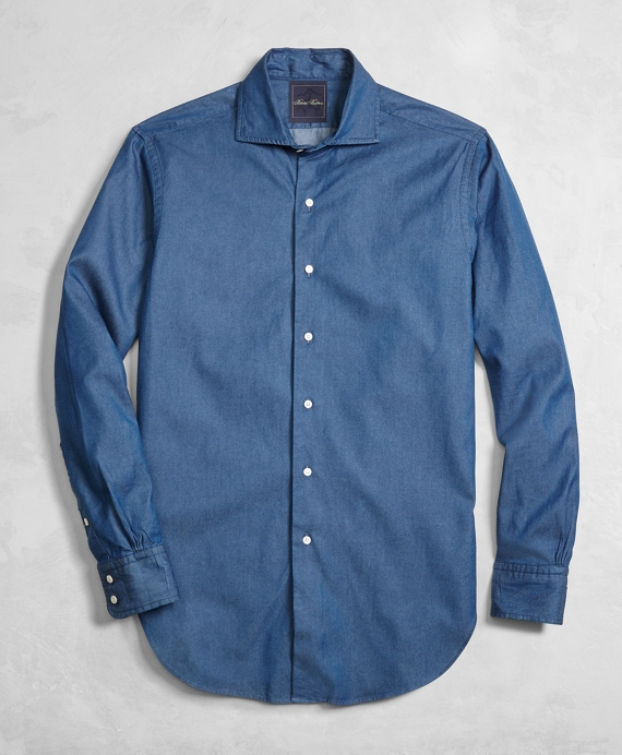 Golden Fleece® Italian Denim Regent Fit English Collar Shirt