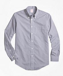 Non-Iron Madison Fit Micro Check Sport Shirt