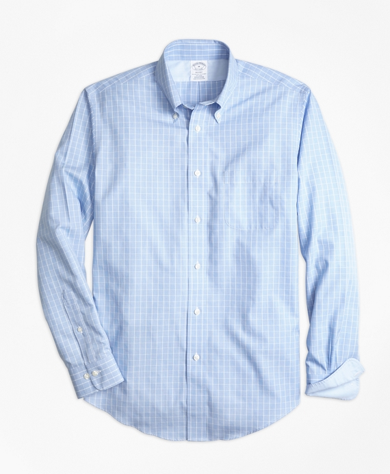 Non-Iron Regent Fit Yarn-Dyed Windowpane Sport Shirt