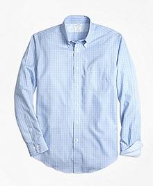 Non-Iron Regent Fit Yarn-Dyed Windowpane Sport Shirt