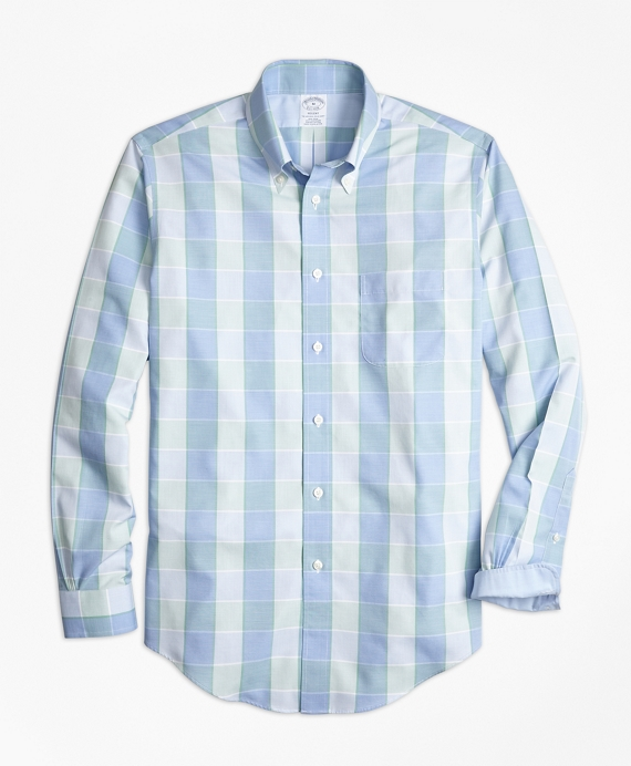 Non-Iron Regent Fit Yarn-Dyed Plaid Sport Shirt